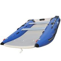 BRIS 11 ft Inflatable Catamaran Inflatable Boat Dinghy Mini Cat Boat Blue  image 7