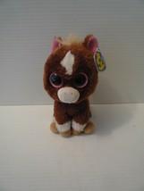 "DAKOTA the DARK BROWN Horse - Ty 6"" SOLID EYES Beanie Boos MINT 2013 - $22.28"