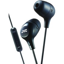 Jvc Marshmallow Inner-ear Headphones With Microphone (black) JVCHAFX38MB - $21.33