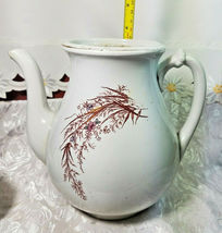 ANTIQUE IRON STONE CHINA WARRANTED COFFEE POT image 7