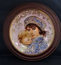 "Bradex Knowles Edna Hibel 1987 Collector's Plate ""Catherine & Heather"" - $40.00"