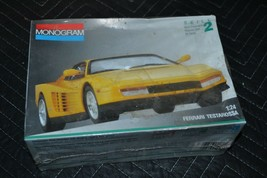 FERRARI TESTAROSSA 1/24 scale MONOGRAM model car kit #2910 1991 Yellow S... - $23.05