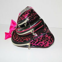 Juicy Couture Leopard Pink & Black Cosmetic Travel Case Set image 5