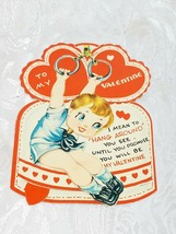 "OLD VINTAGE ""TO MY VALENTINE"" VALENTINE'S DAY CARD, GOOD COLOR!"