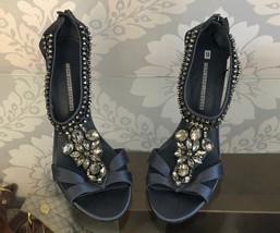 VERA WANG Lavender Label Slate Heels with Rhinestones Sz 9 $350 - $120.30