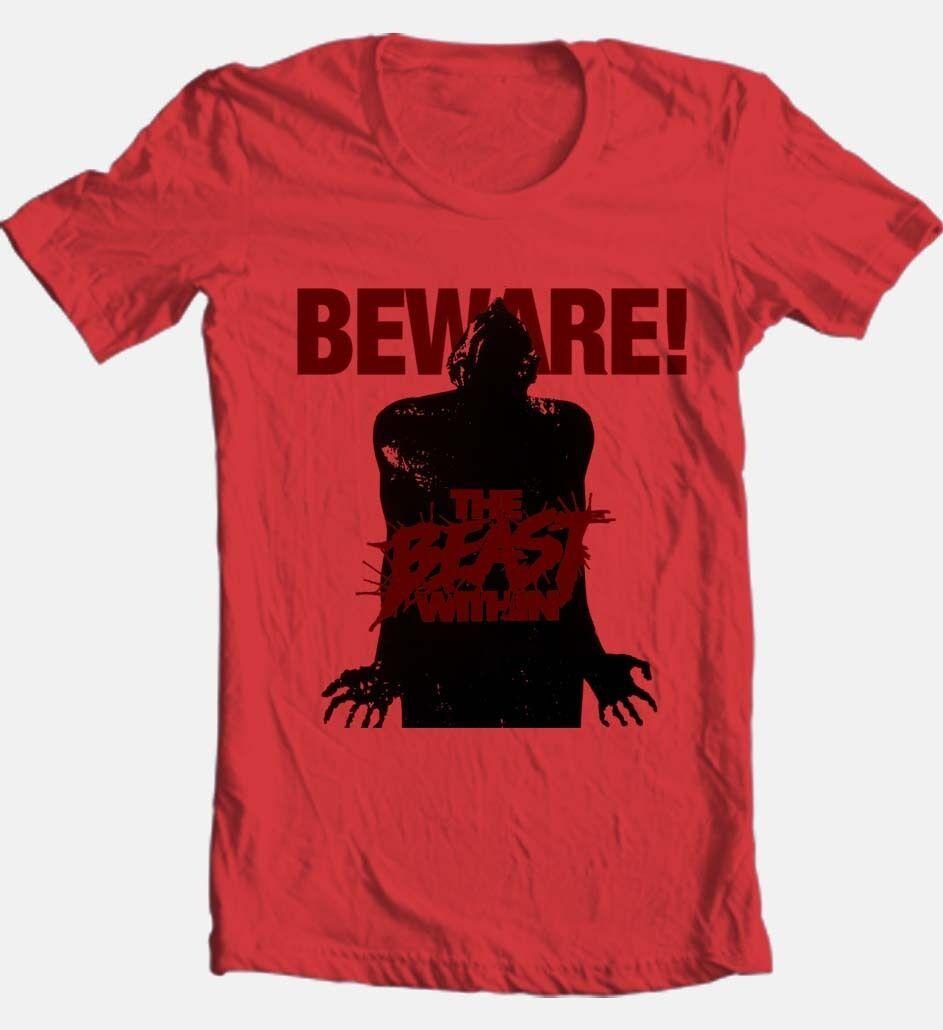 The beast within t shirt retro 80 s slasher horror movie 100  cotton graphic tee