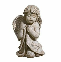 Hope Angel Kneeling Cherub Garden Statue - Grassland Roads - $25.99
