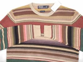 NEW!  Polo Ralph Lauren Pure Linen Sweater!  XL  *Colorful Southwestern Stripes* - $99.99