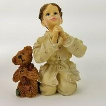 Boyds Bears Yesterdays Child Dollstone Mark With Luke The Prayer Figurin... - $18.69