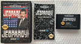 ☆ Jeopardy (Sega Genesis 1992) Complete in Case Game Tested Works ☆ - $6.00