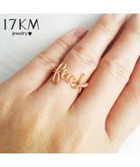 17KM New Design Letter LUCK Ring Fashion Gold Color Rings For Women Girl... - $9.65