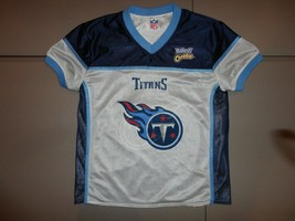 Blue & White Tennessee Titans Flag Football NFL Reversible Jersey Fits Youth M   - $17.32