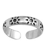 Sun Desing Women's Adjustable Toe Ring 14k White Gold Plated 925 Sterlin... - $9.99