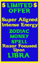Money Spell Highly Charged Spell For Libra Millionaire Magic for Luck Money - $47.00