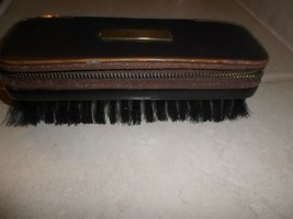 Vintage Men's  Clothing Brush w manicure zip compartment, bristle,W Germany - $11.77