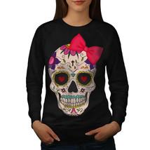 Cross Sugar Death Skull Jumper Angel Heart Women Sweatshirt - $18.99