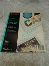 "New Canon High Gloss Film paper HG-101 BJC-600 series 8.5"" X 11"" color 0.99 - $0.98"