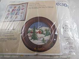 The Creative Circle Vintage Cross Stitch Kit #6304 Collectors Plate 1988 Christm - $29.58