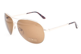 Tom Ford Charles Shiny Gold / Polarized Brown Sunglasses TF035 28H - $185.22