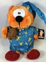 "Heathcliff Plush Orange Kitty Cat Blue Pajamas Teddy Bear Nanco 16"" Vtg ... - $29.69"
