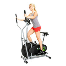 Deluxe Home Fitness Machine Workout Cardio Trainer Eliptical Excercise B... - $225.84