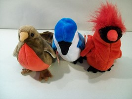 3 Vintage Ty B EAN Ie Babies Bird B EAN Plush Early Mac Rocket 1998-99 Swing Tag - $16.61