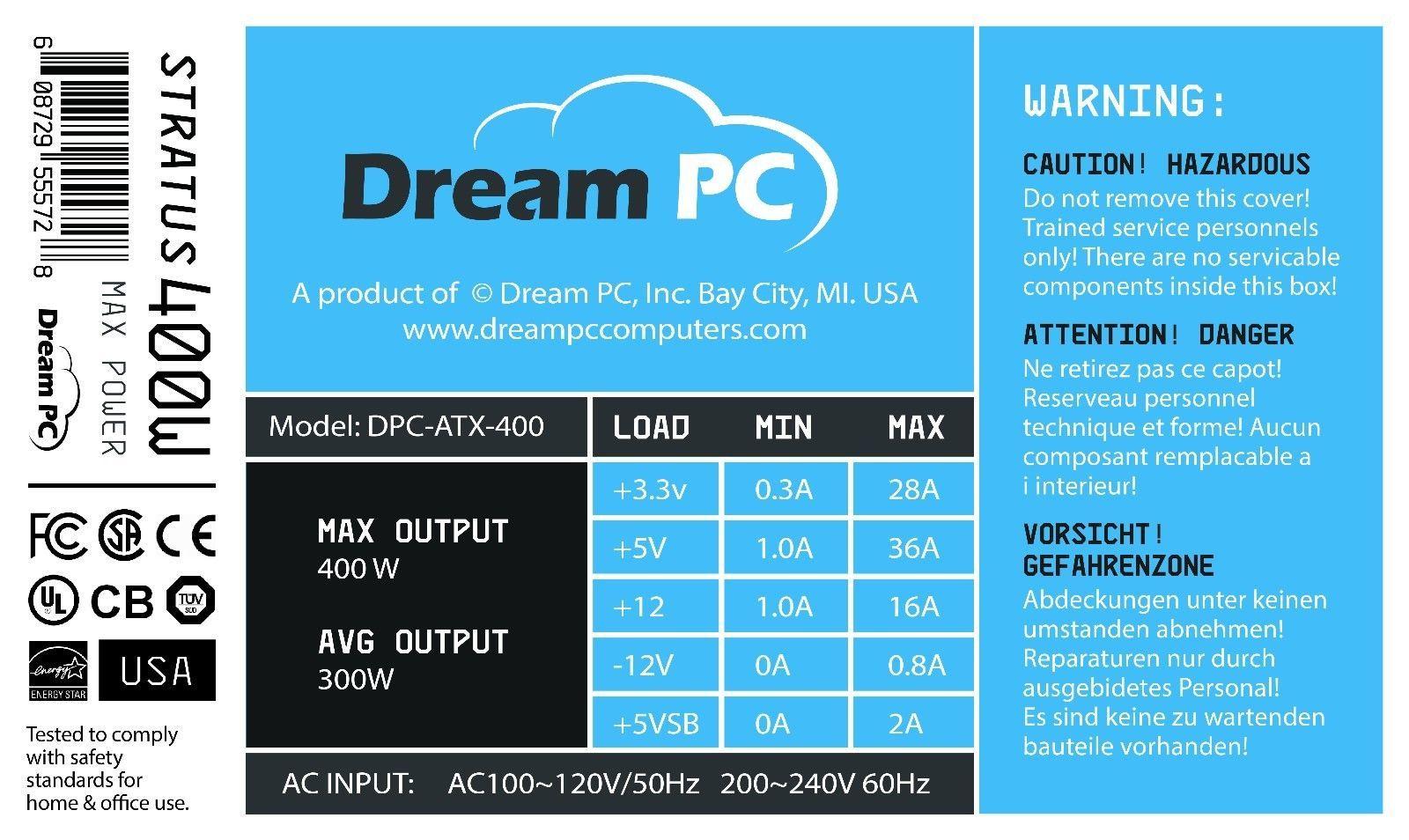 New PC Power Supply Upgrade for StarTech ATXPOW300PRO Desktop Computer