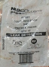 Nibco Press System PC601 Press Repair Coupling Without Stop 3/4 Inch 10 Per Bag image 2