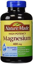 Nature Made High Potency Magnesium 400 mg - 150 Liquid Softgels,(Pack of 2) - $38.47