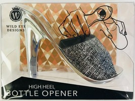 Wild Eye Designs High Heel Shoe Bottle Opener Gray / Black Pattern Silver - $14.84