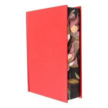 Very Thick Blank Journal Small Size A6, Floral Surrounded Red Hardcover ... - $21.78