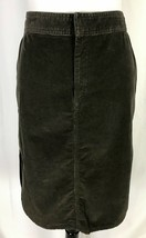 GAP Womens Skirt size 10 Olive Green Corduroy Stretch Straight Knee Casual Slim - $27.97