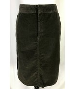 GAP Womens Skirt size 10 Olive Green Corduroy Stretch Straight Knee Casu... - $27.97