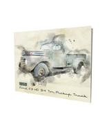1950 Ford F3 HD 3/4 Ton Pickup Truck Design 16x20 Aluminum Wall Art - $59.35