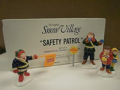 Primary image for DEPT 56- RETIRED- 54496 SAFETY PATROL- NEW IN BOX -L131
