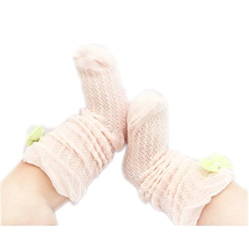 Baby Socks Lovely Bow Cotton Summer Infant Stocking 1-3 Years Old(Pink)