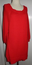 Lane Bryant Red Sweater Tunic 3/4 Sleeves Women's Size 14/16 - $15.99
