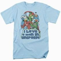 Justice League T-shirt Uniform DC comic book super friends hero blue tee DCO456 image 2