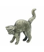 Curio Cat figurine Franklin mint collection kitten sculpture American Pe... - $29.65