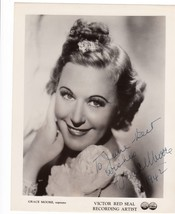 Grace Moore (The Tennessee Nightingale) Opera Soprano Autographed Photo ... - $99.00