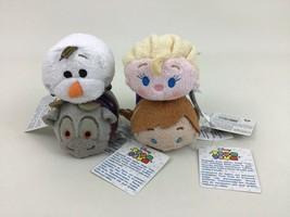 "Disney Frozen Tsum Tsum 4 piece set 3.5"" Mini Plush Anna Elsa Olaf Sven lot Tags - $24.90"