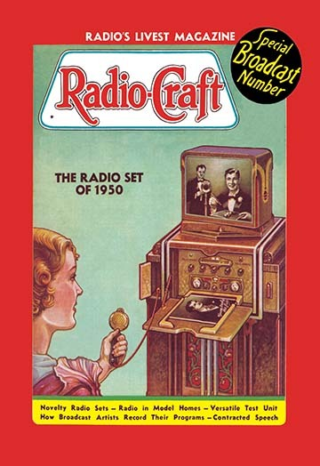 Primary image for Radio Craft: The Radio Set of 1950 by Radcraft - Art Print