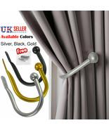 Large Stylish Curtain Hold Back Metal Tie Tassel Arm Hook Loop Holder U ... - $4.43