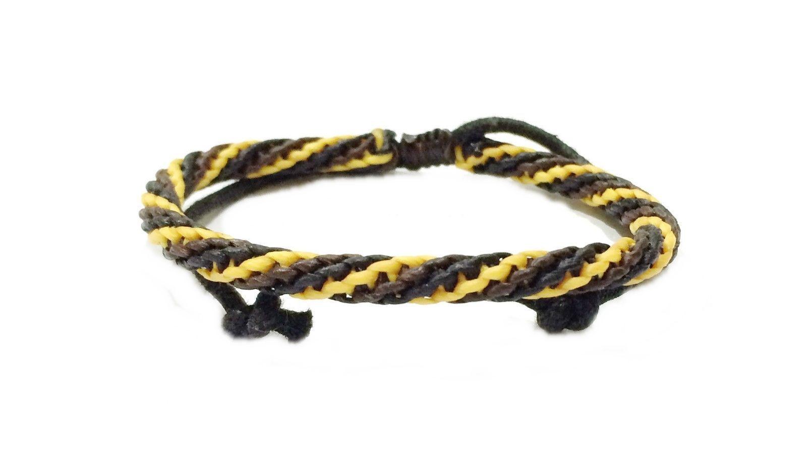 Fair Trade Wax Cord Adjustable Thai Wristband Classic Handcrafted Bracelet