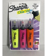 New Sharpie Clear View Highlighters 3 Fluorescent Colors See Through Tip - $4.05