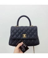 100% AUTH CHANEL SMALL COCO HANDLE BAG BLACK CAVIAR GHW - $3,999.99