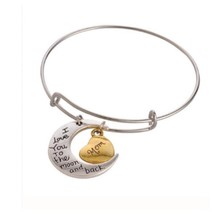 I Love You to the Moon and Back- Bracelets for Mom, Perfect Gift for Mom - $8.51
