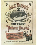 """Jack Daniels Tennessee Hollow Vintage Whiskey Advertisement Poster - 16""""... - $19.88"""