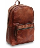 16/17 Inches Handmade Brown Vintage Leather Laptop Backpack For Men Women  - $69.29+