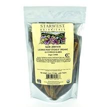 "Starwest Botanicals Organic 6"" Licorice Root Sticks, 4 Ounces image 1"